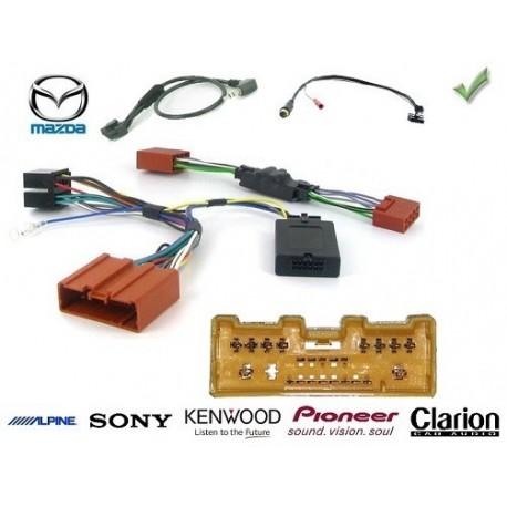 COMMANDE VOLANT Mazda 2 2008-2010 - Pour SONY complet avec interface specifique