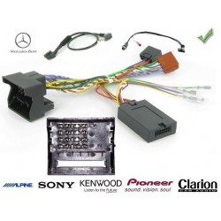 COMMANDE VOLANT Mercedes CLASSE C 2007 W203 FAKRA SANS AMPLI - Pour Alpine complet avec interface specifique