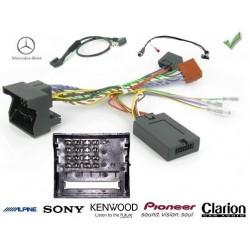COMMANDE VOLANT Mercedes CLASSE E 2002- FAKRA SANS AMPLI - Pour SONY complet avec interface specifique