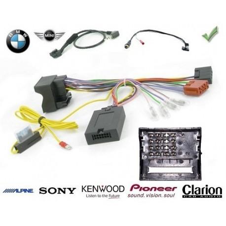 COMMANDE VOLANT BMW SERIE 3 2005-2008 (E90-E91) - Pour Kenwood FAKRA  SANS NAV  AVEC RADARS RECUL