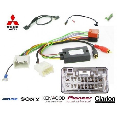 COMMANDE VOLANT Mitsubishi ASX 2010- SANS AMPLI - Pour Pioneer complet avec interface specifique