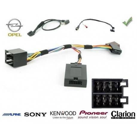 COMMANDE VOLANT Opel Astra H 2004-2010 FAKRA - Pour SONY complet avec interface specifique