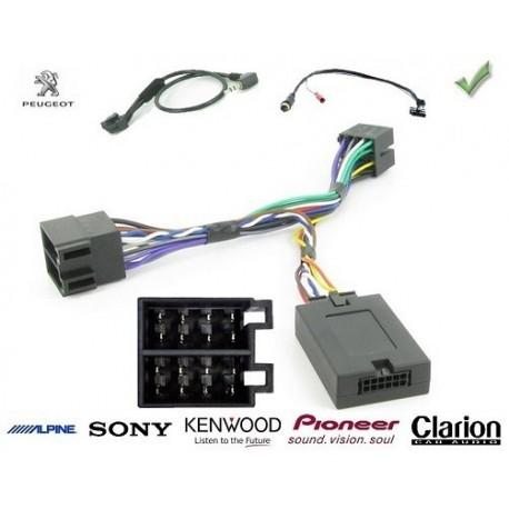 COMMANDE VOLANT Peugeot 206 2002- - Pour Pioneer complet avec interface specifique