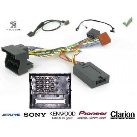 COMMANDE VOLANT Peugeot 207 2006- - FAKRA - Pour SONY complet avec interface specifique