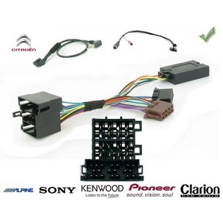 COMMANDE VOLANT Citroen Berlingo 2006-2008 - Pour Pioneer complet avec interface specifique