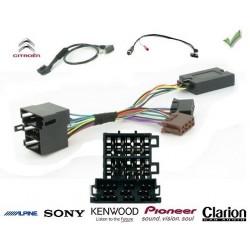 COMMANDE VOLANT Citroen C2 2006- - Pour Pioneer complet avec interface specifique
