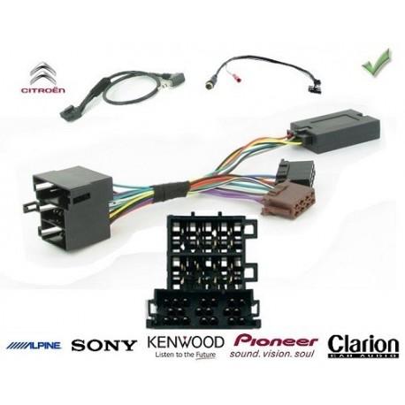 COMMANDE VOLANT Citroen C3 2006- - Pour Pioneer complet avec interface specifique