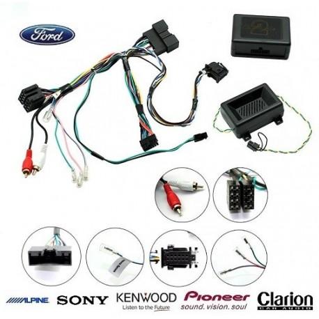 COMMANDE VOLANT FORD KUGA 2012- (avec ecran deporte) - Pour Pioneer complet avec interface specifique