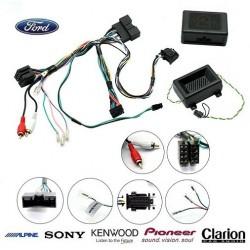 COMMANDE VOLANT FORD KUGA 2012- (avec ecran deporte) - Pour SONY complet avec interface specifique