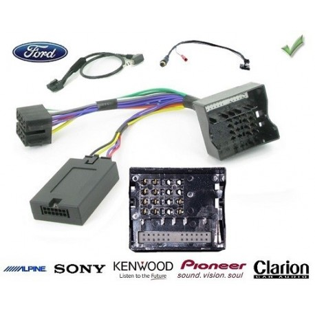 COMMANDE VOLANT Ford Transit Connect 2009- - Pour SONY complet avec interface specifique