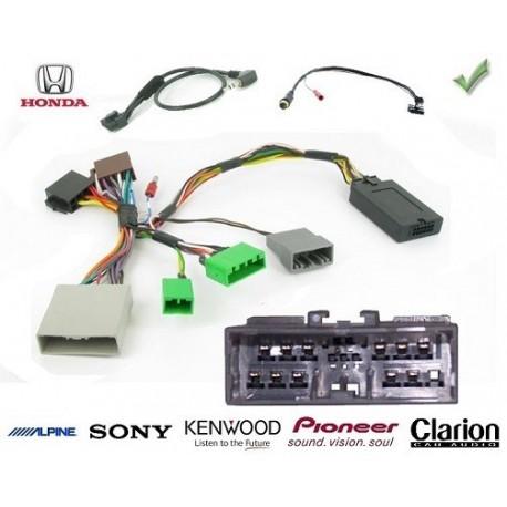 COMMANDE VOLANT HONDA JAZZ 2009- (sauf 1.3 DSI) - Pour Pioneer complet avec interface specifique