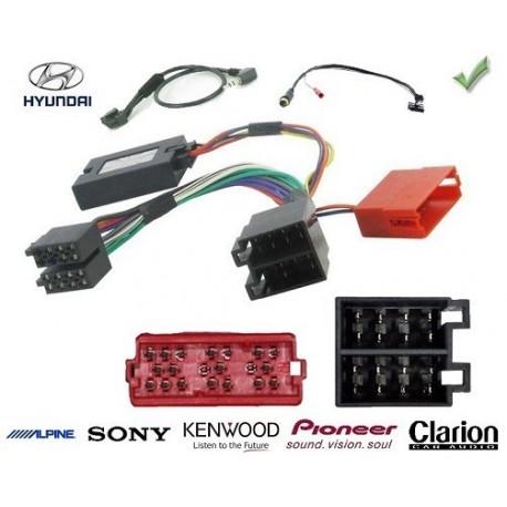 COMMANDE VOLANT Hyundai H1 2.5 CRDI connecteur rectangulaire - Pour Pioneer complet avec interface specifique