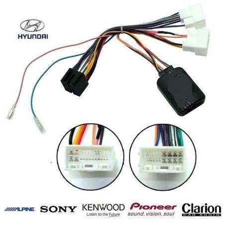 COMMANDE VOLANT Hyundai Sonata 2009- - Pour Pioneer complet avec interface specifique