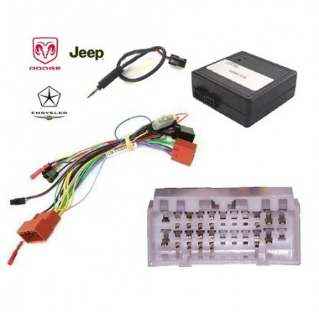COMMANDE VOLANT JEEP GRAND CHEROKEE 2005-2007 - Pour SONY avec can bus
