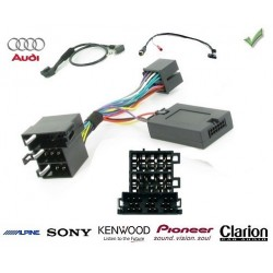 COMMANDE VOLANT Audi Q7 2006- - Pour Pioneer complet avec interface specifique