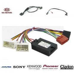 COMMANDE VOLANT KIA SORENTO 2013- SANS AMPLI - Pour Pioneer complet avec interface specifique