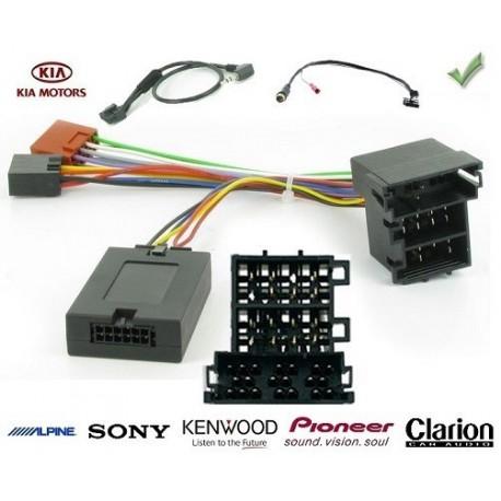 COMMANDE VOLANT Kia SOUL 2012- AVEC AMPLI FILAIRE RCA - Pour SONY complet avec interface specifique