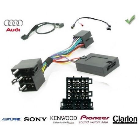 COMMANDE VOLANT Audi R8 - Pour Pioneer complet avec interface specifique